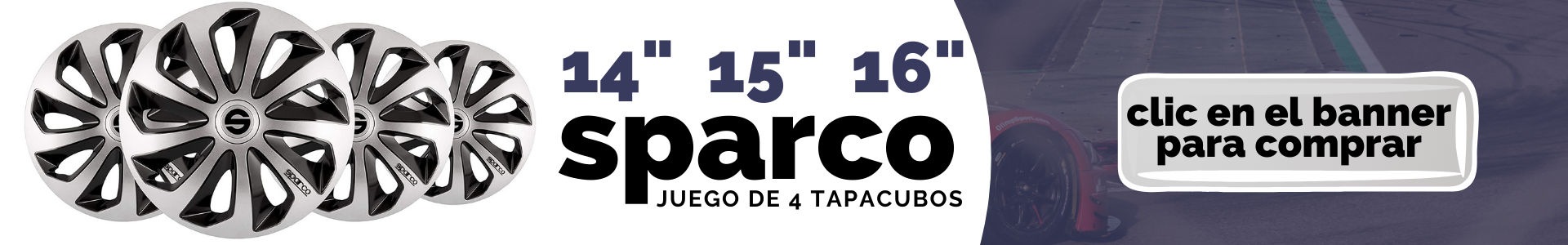 sparco tapacubos